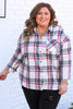 CURVY: Find Time Away Plaid Flannel Top