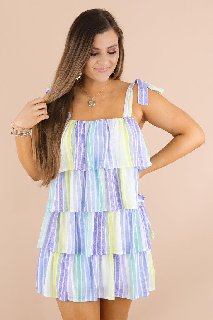 Bit Of A Flirt Striped Dress