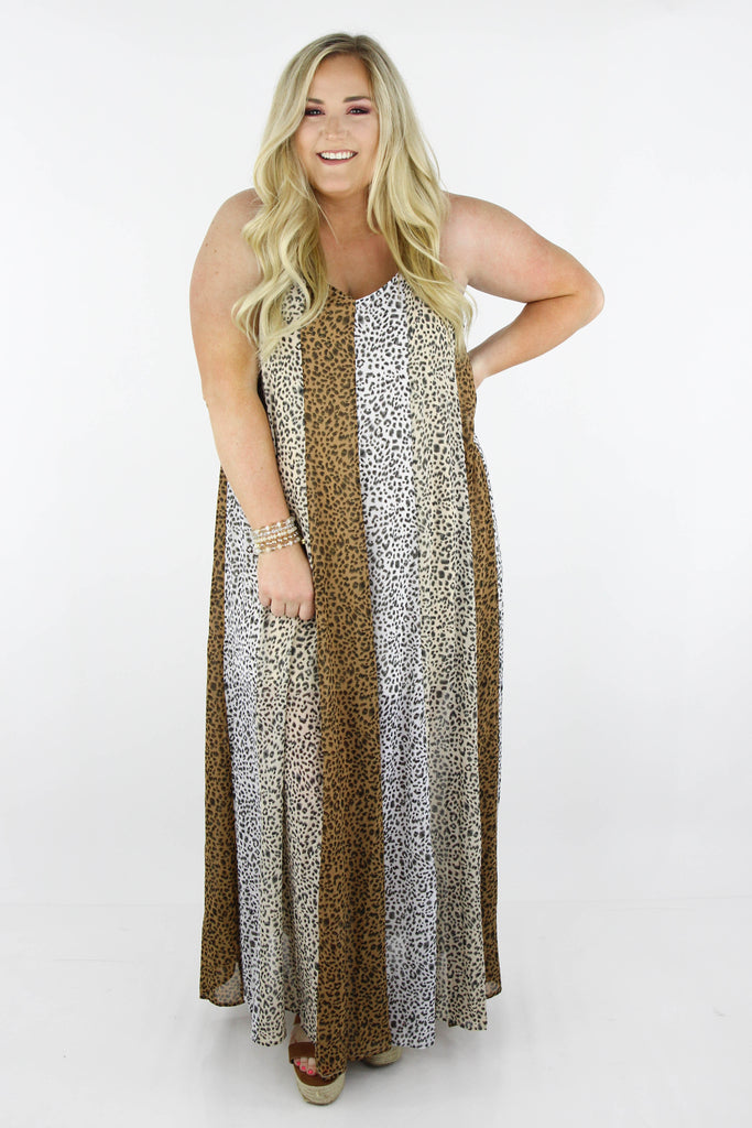 CURVY: Stop The Flow Of Time Printed Maxi