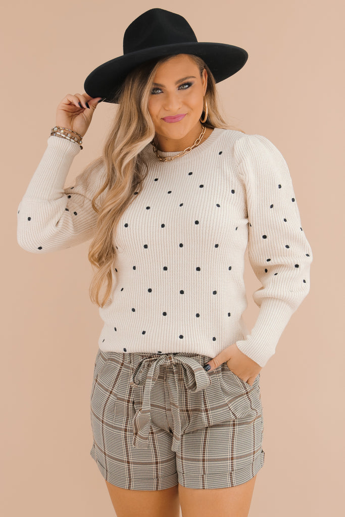 Priceless Moments Polka Dot Sweater