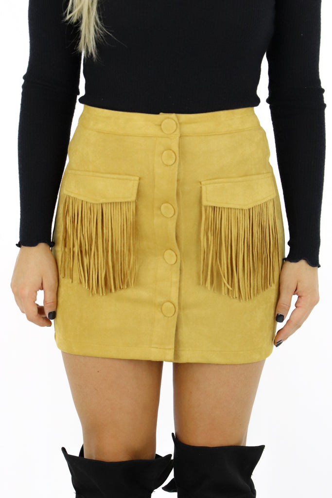 Someone In Mind Fringe Skirt