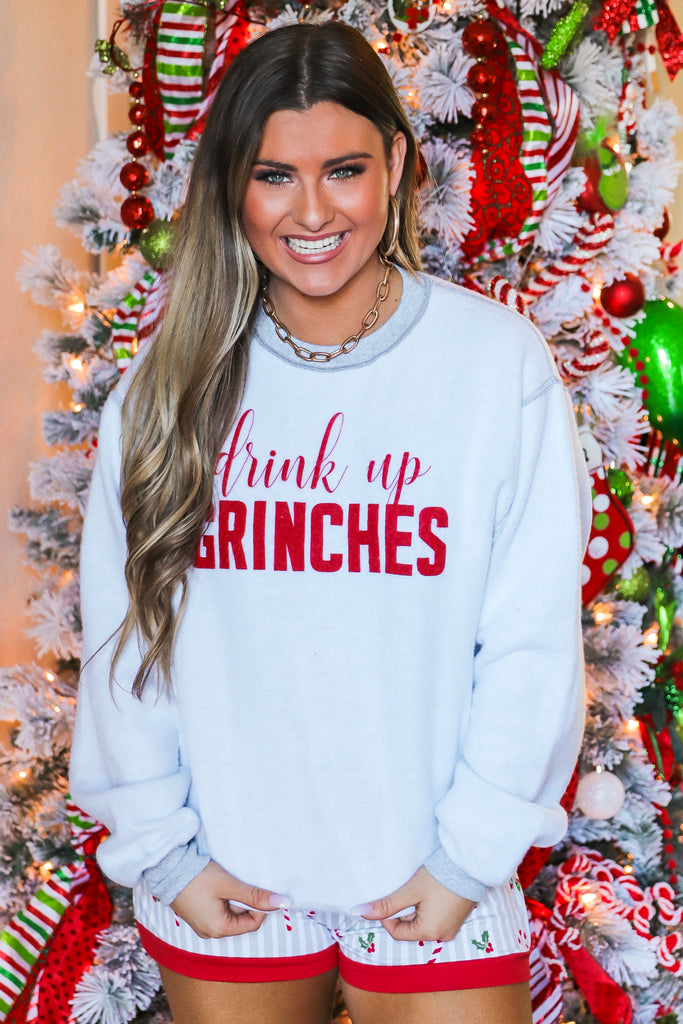 Drink Up Grinches Inverted Pullover