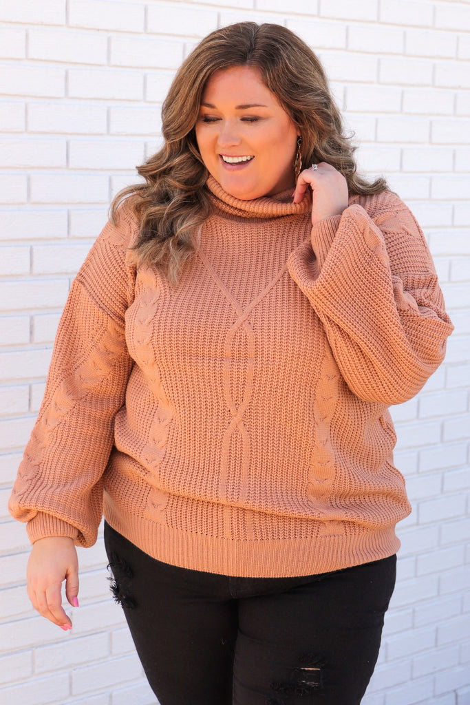 CURVY: Alone At Last Turtle Neck Sweater