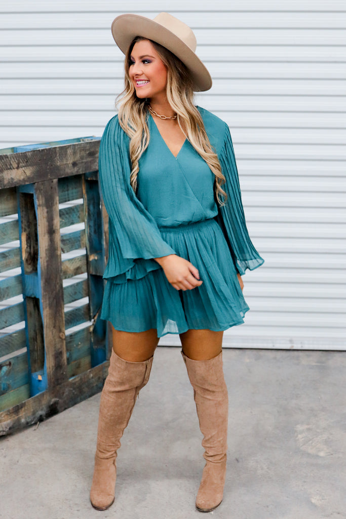 Down To Party Pleated Romper
