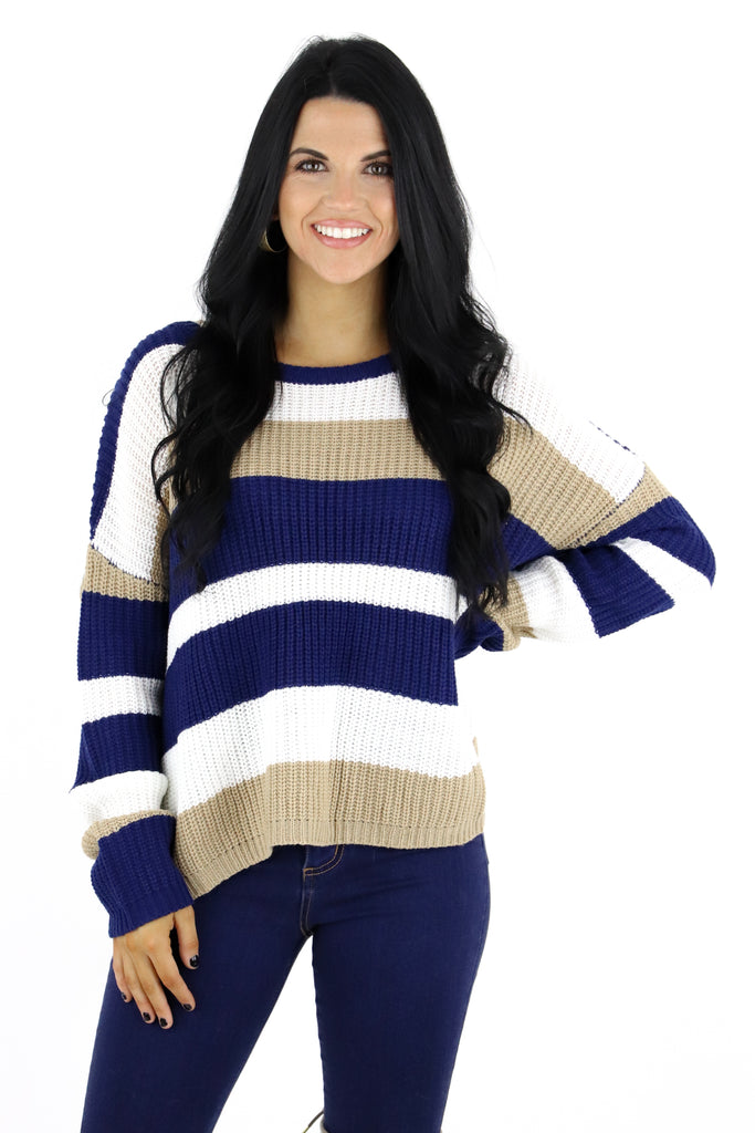 Come Back To You Color Block Sweater