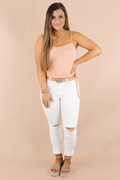 Casual Summer Love Top: White