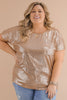 CURVY: Cheers To The Weekend Sequin Top