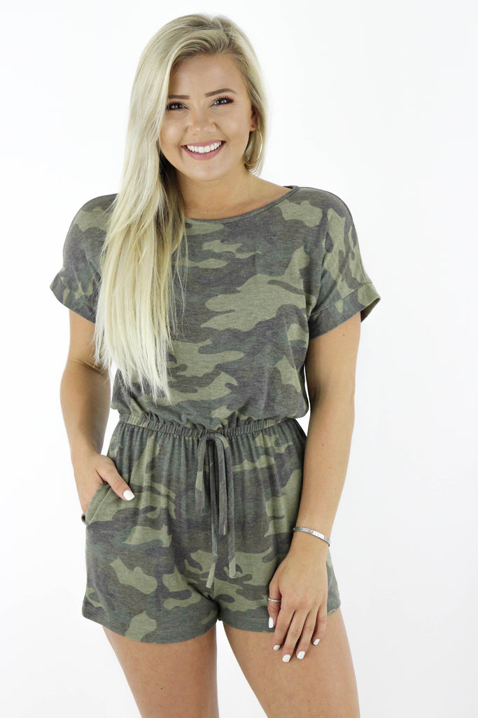 Can We Find A Reason Camouflage Romper