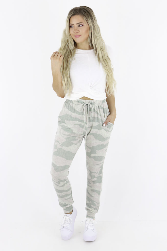 Lounging Around Camouflage Joggers