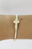 Cross Wire Cuff Bracelet