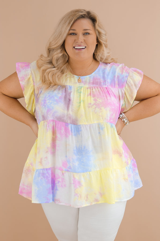 CURVY: Starting Over With You Tie Dye Top