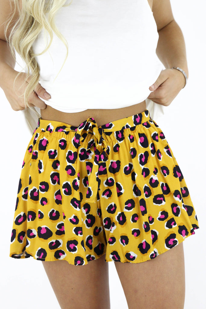 Electric Touch Cheetah Print Shorts