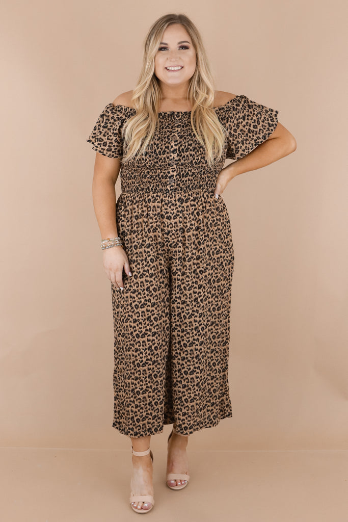 CURVY: It'll All Work Out Smocked Jumpsuit