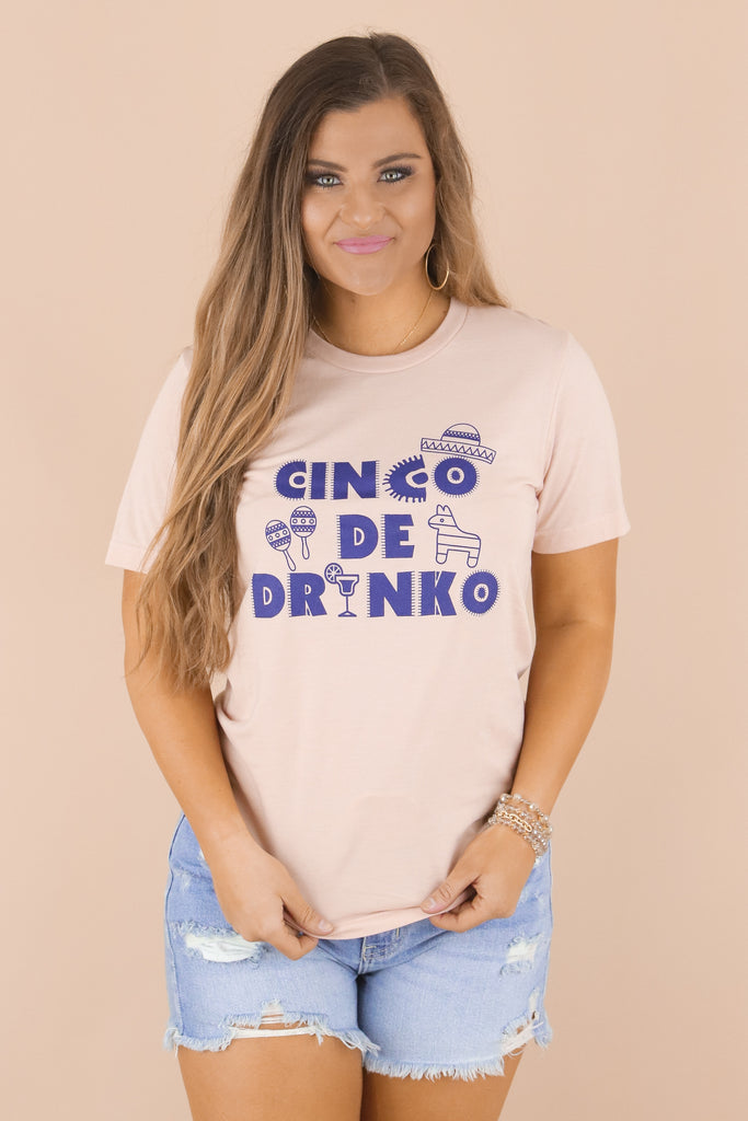 Festive Cinco De Drinko Graphic Top