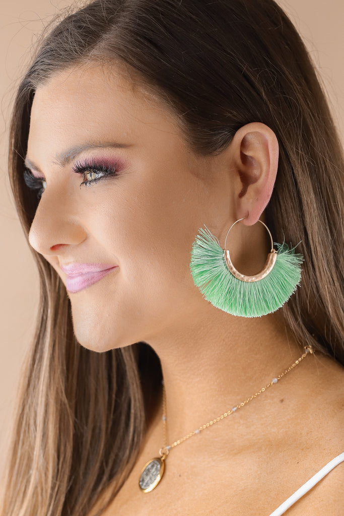 Fan Tassel Hoops