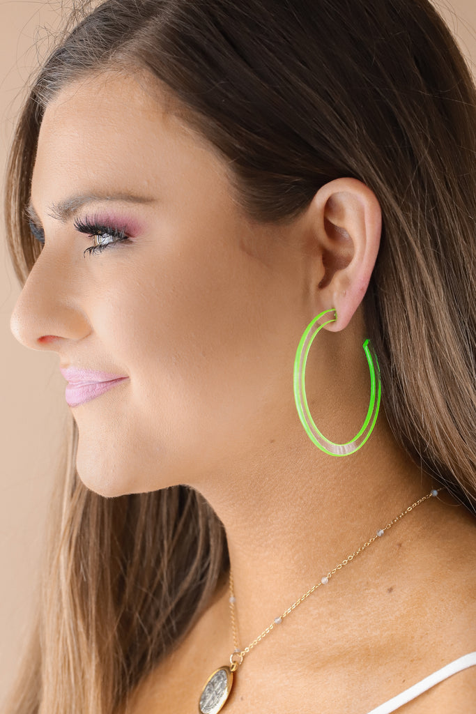 Contrast Open Hoop Earrings