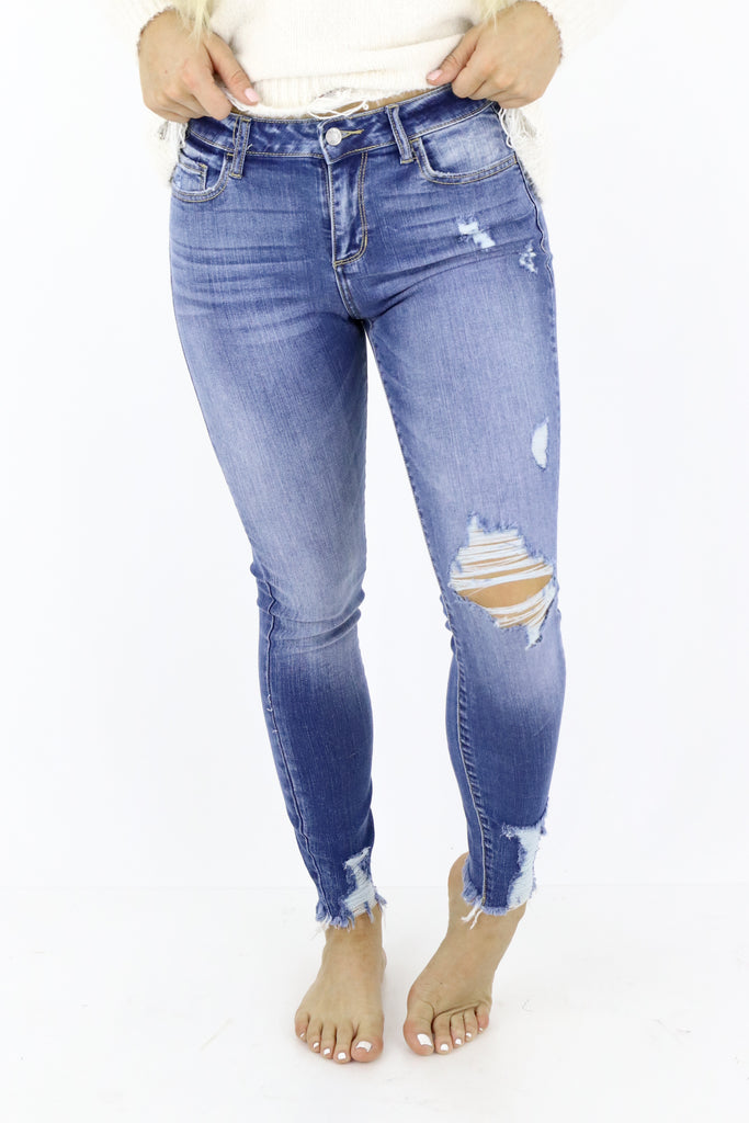 Risking It All Cropped Skinny Jeans