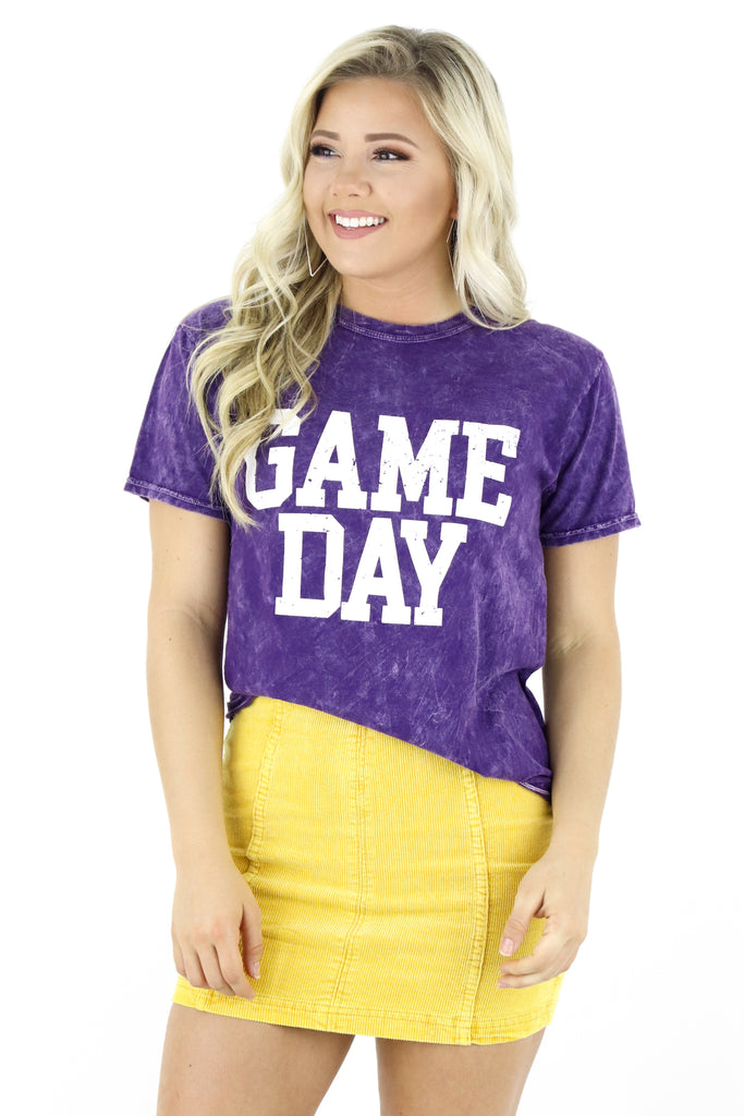 Game Day Block Letters Graphic Tee