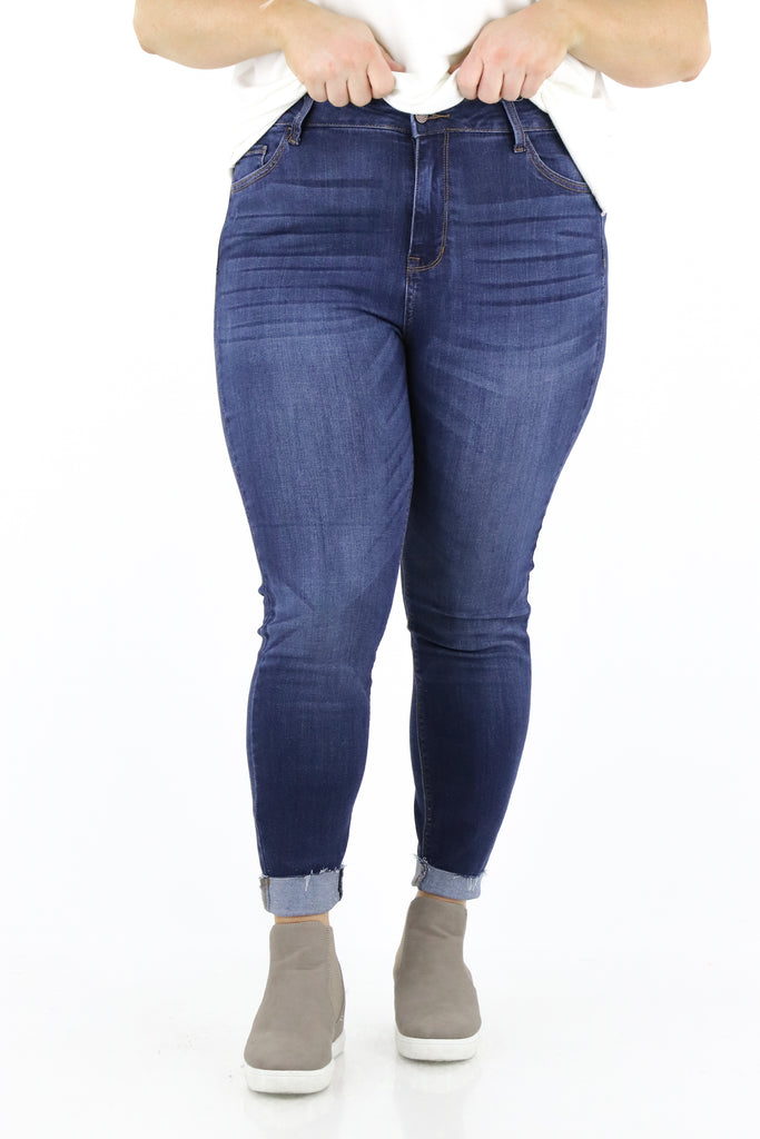 CURVY: Smooth Talking High Rise Skinny