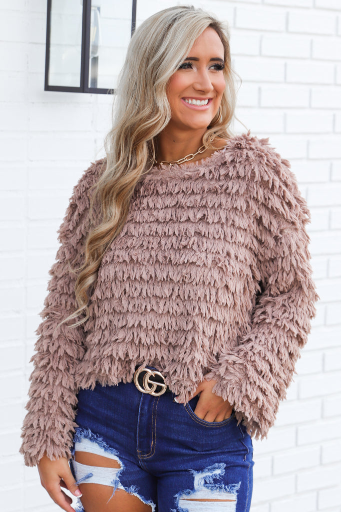 Silent Nights Shaggy Sweater