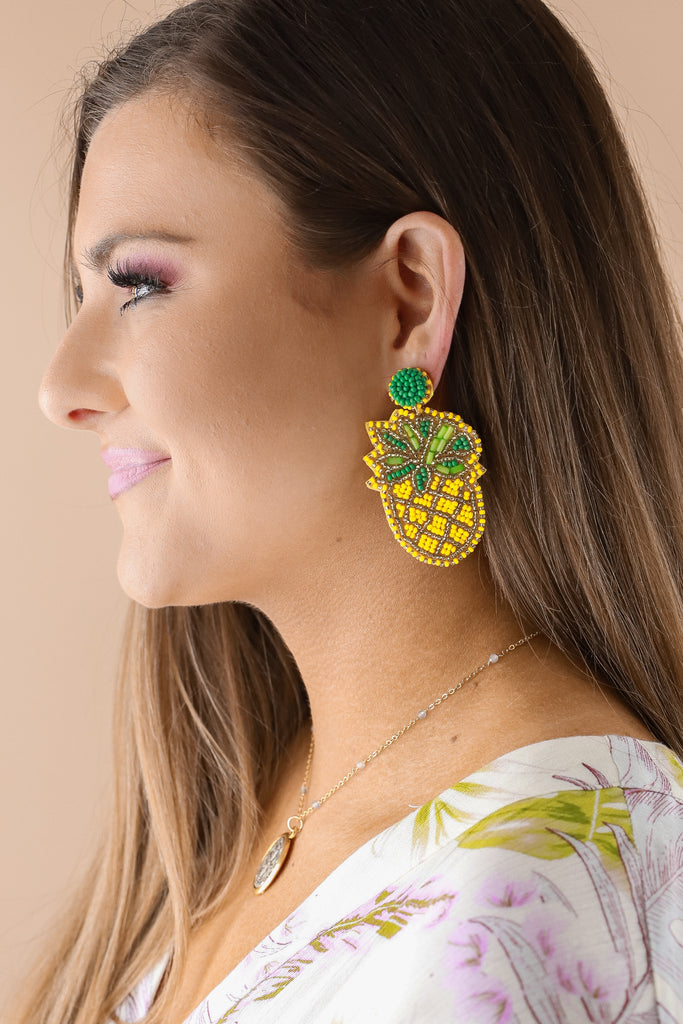 Pineapple Seed Earrings