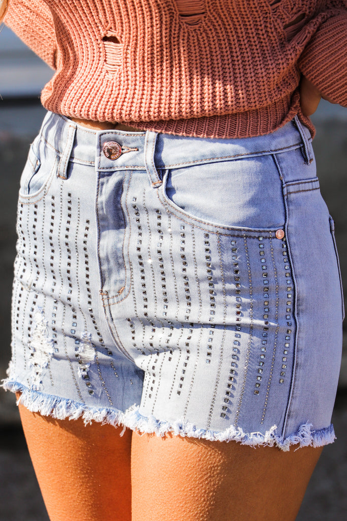 Tried And True Embellished Shorts