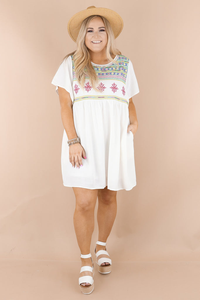 CURVY: Just Another Love Embroidered Dress
