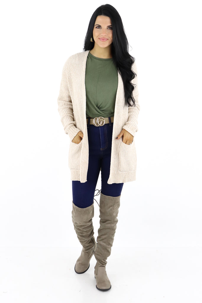 Classy And Chic Chenille Cardigan