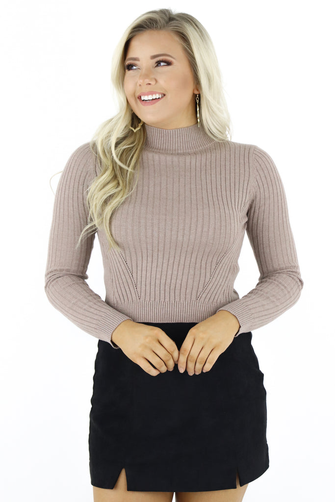Let's Be Real Cropped Sweater