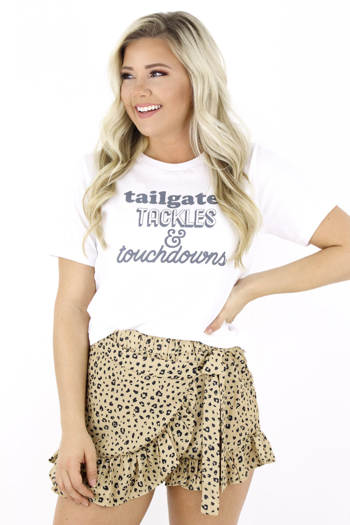 Tailgates Tackles & Touchdowns Graphic Tee