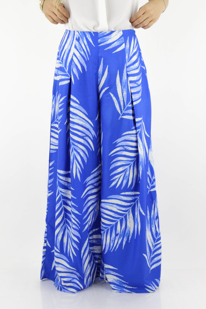 Make You Smile Tropical Print Pants