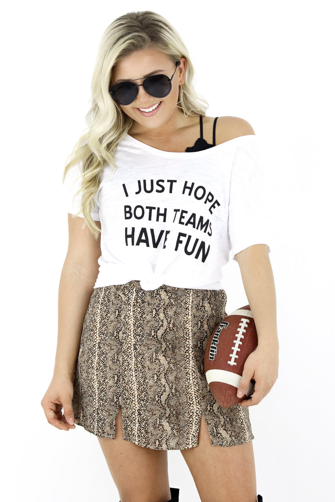 Both Teams Have Fun Graphic Tee