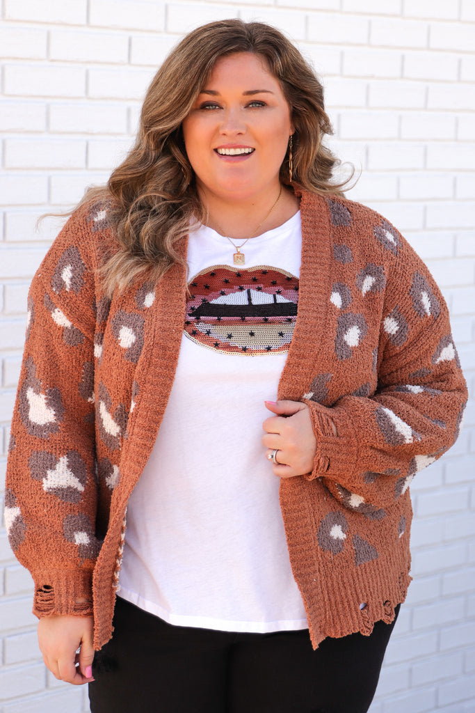CURVY: The Warmest Embrace Printed Cardigan