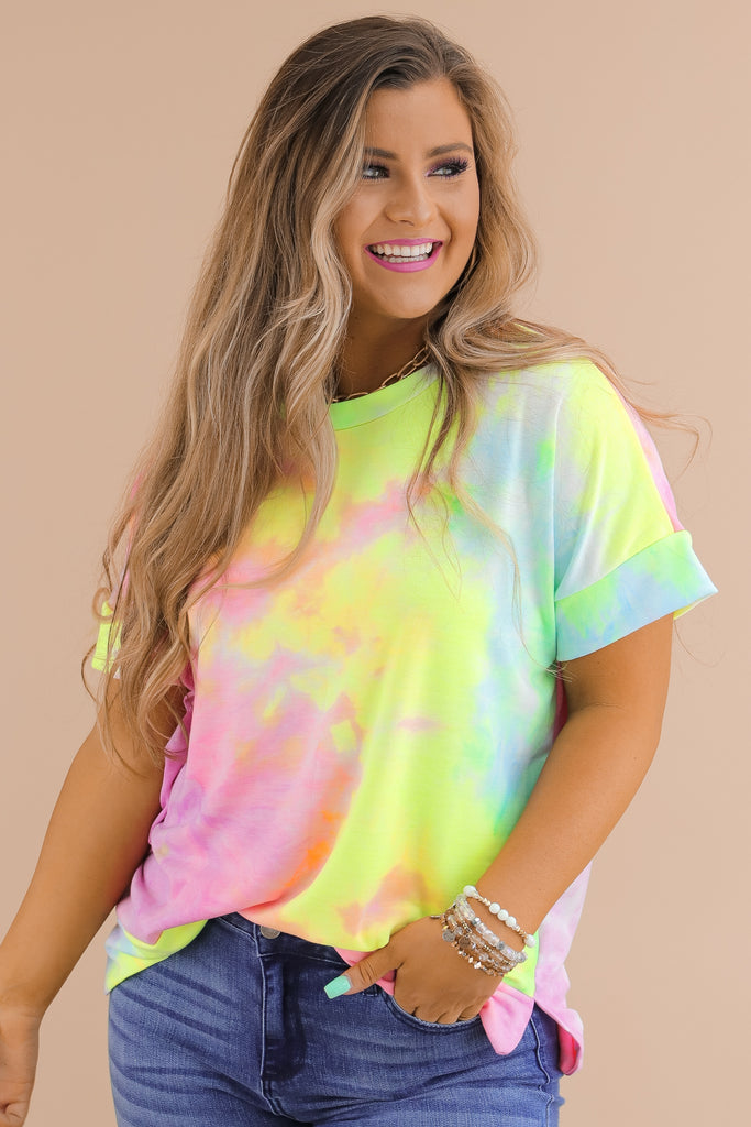 No Time To Spare Tie Dye Top