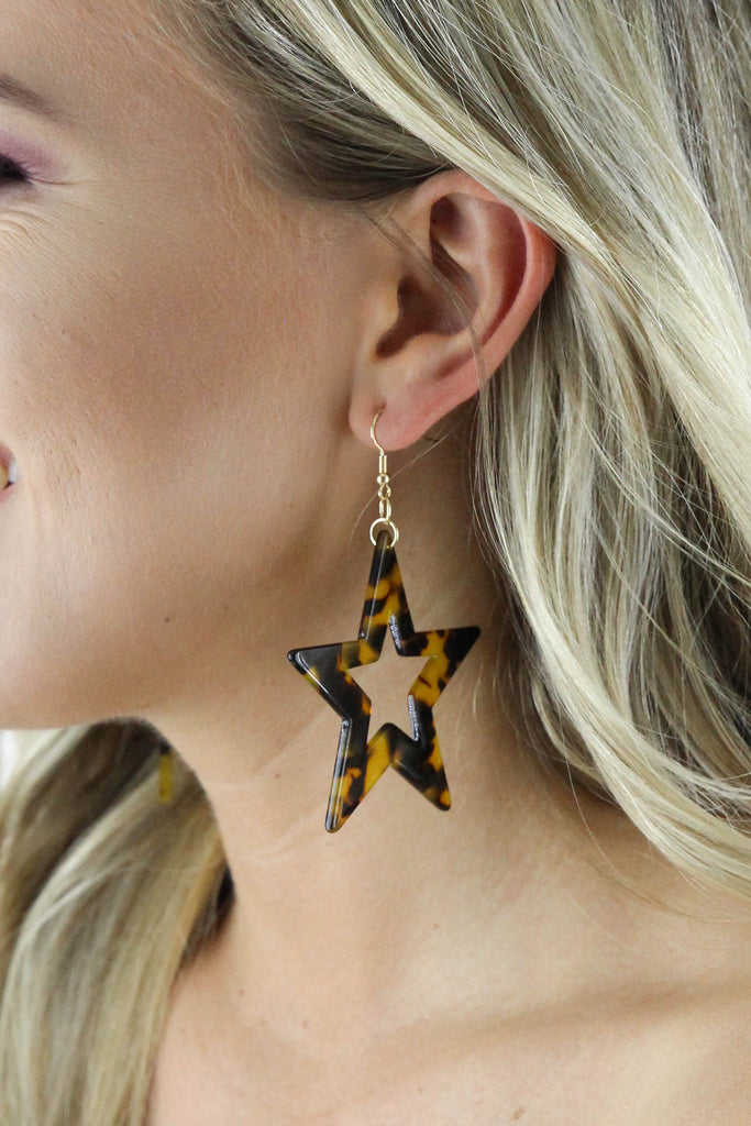RESTOCK: 60 MM Acrylic Star Dangle Earrings