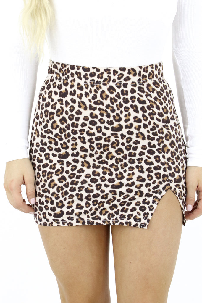 Playful Personality Leopard Skirt