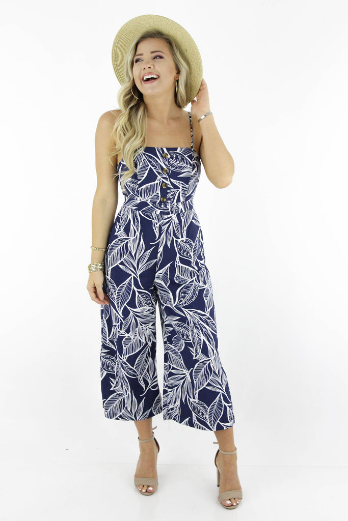 Passing Expectations Floral Jumpsuit
