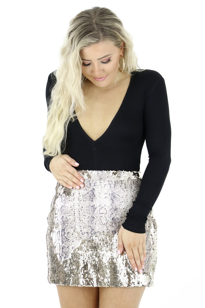 All Dolled Up Sequin Skirt