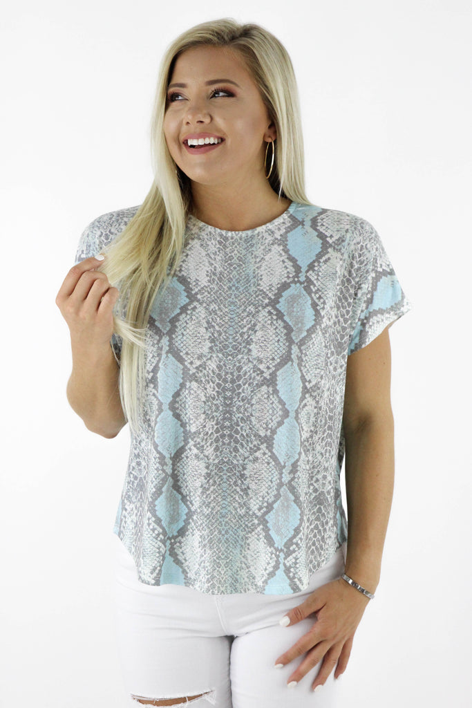 Circumference Of Style Snake Print Top