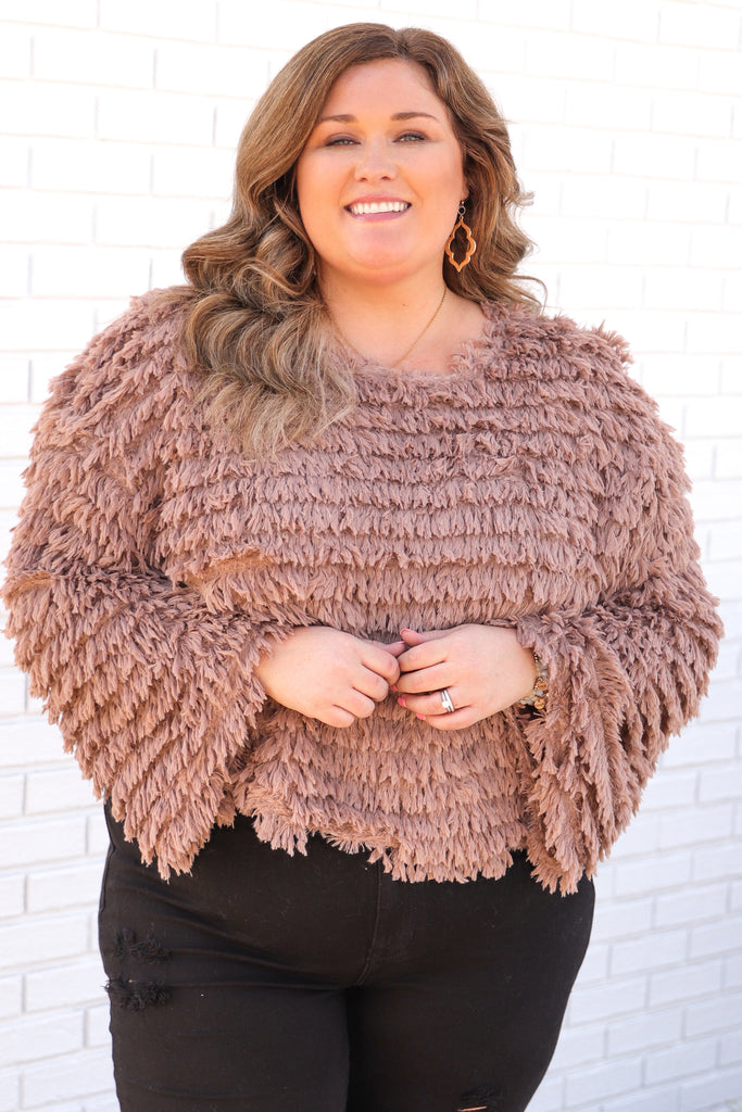 CURVY: Silent Nights Shaggy Sweater