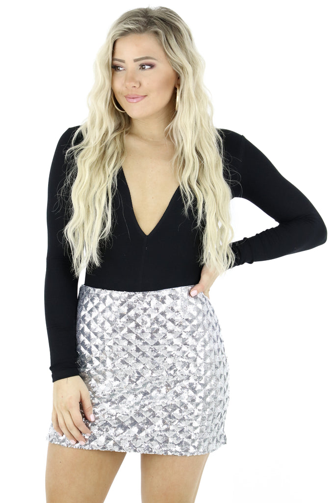 Work Your Magic Sequin Skirt