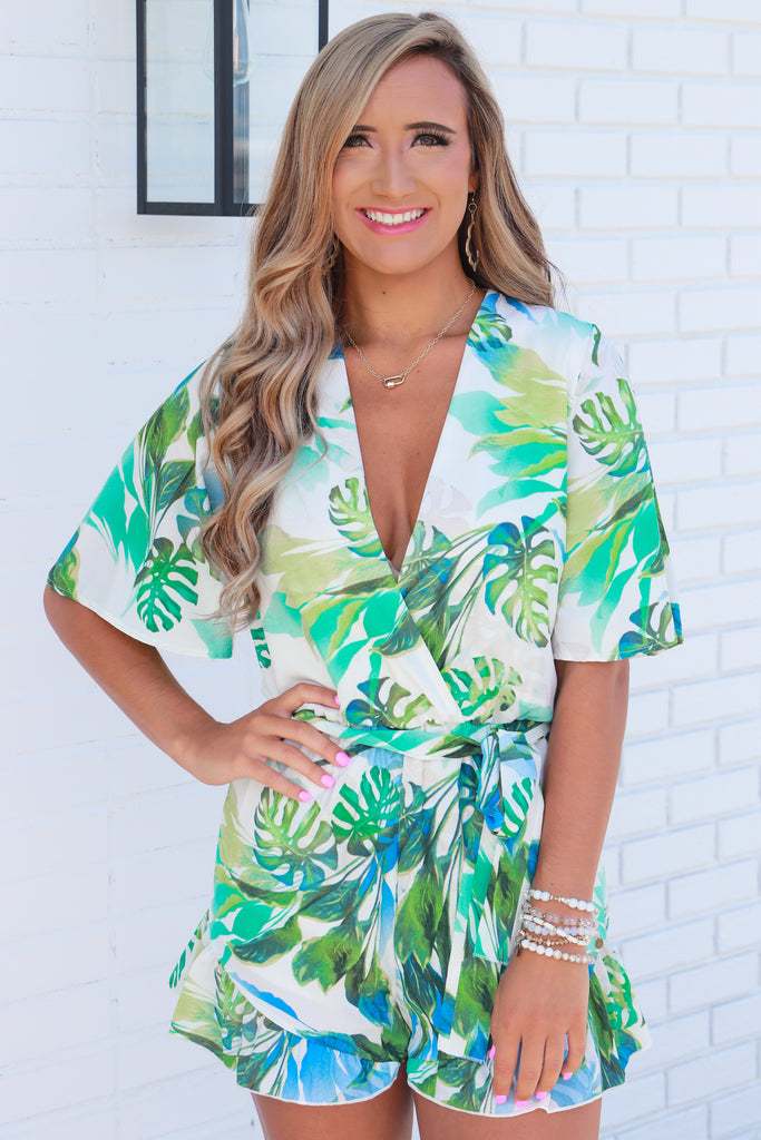 Hard To Leave Printed Romper