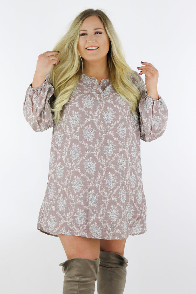CURVY: Feel The Vibe Floral Dress