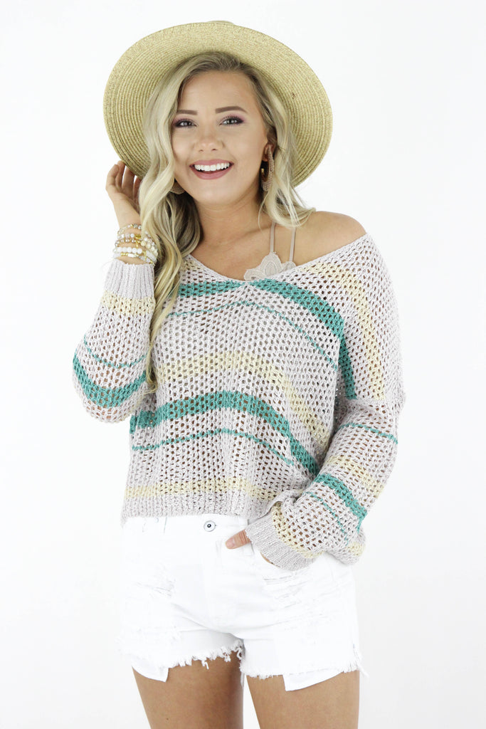 Miss Nothing Knitted Sweater Top