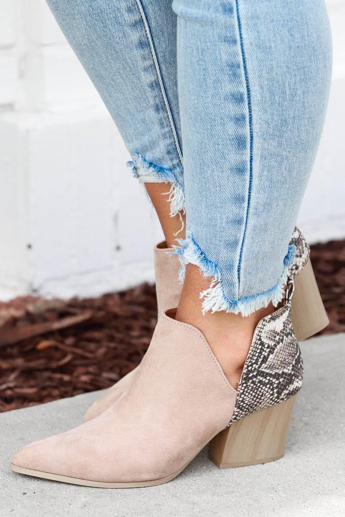 Be My Guide Ankle Booties