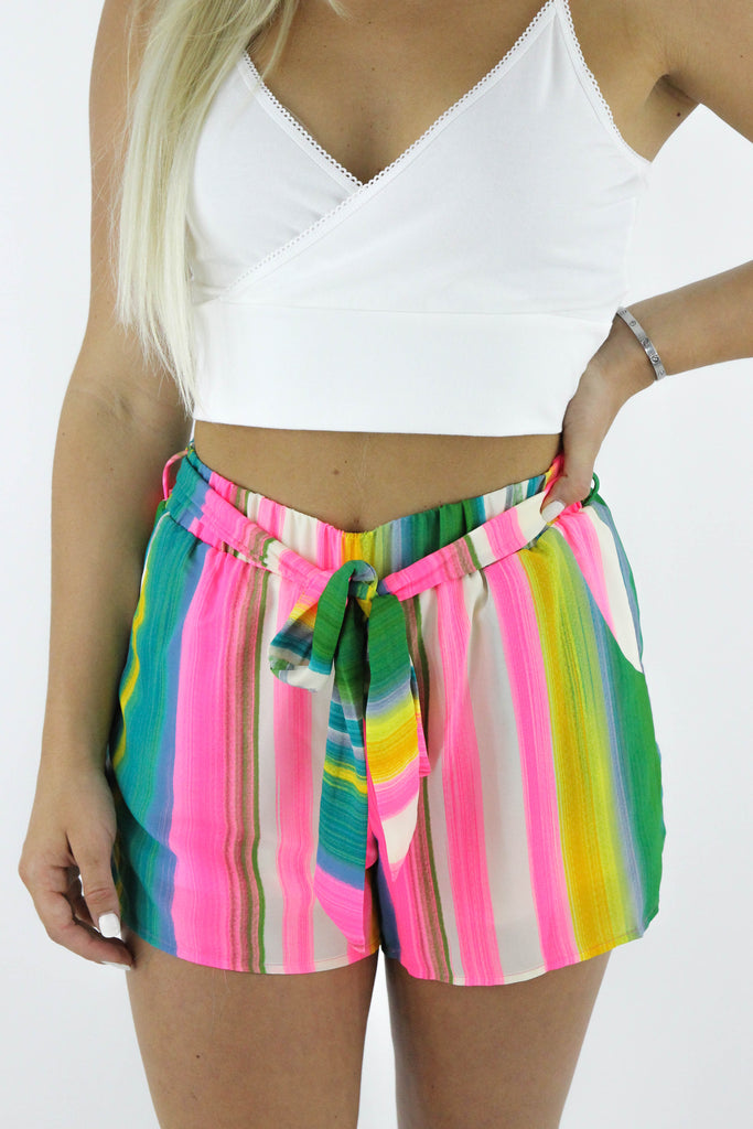 New Big Weekend Striped Shorts