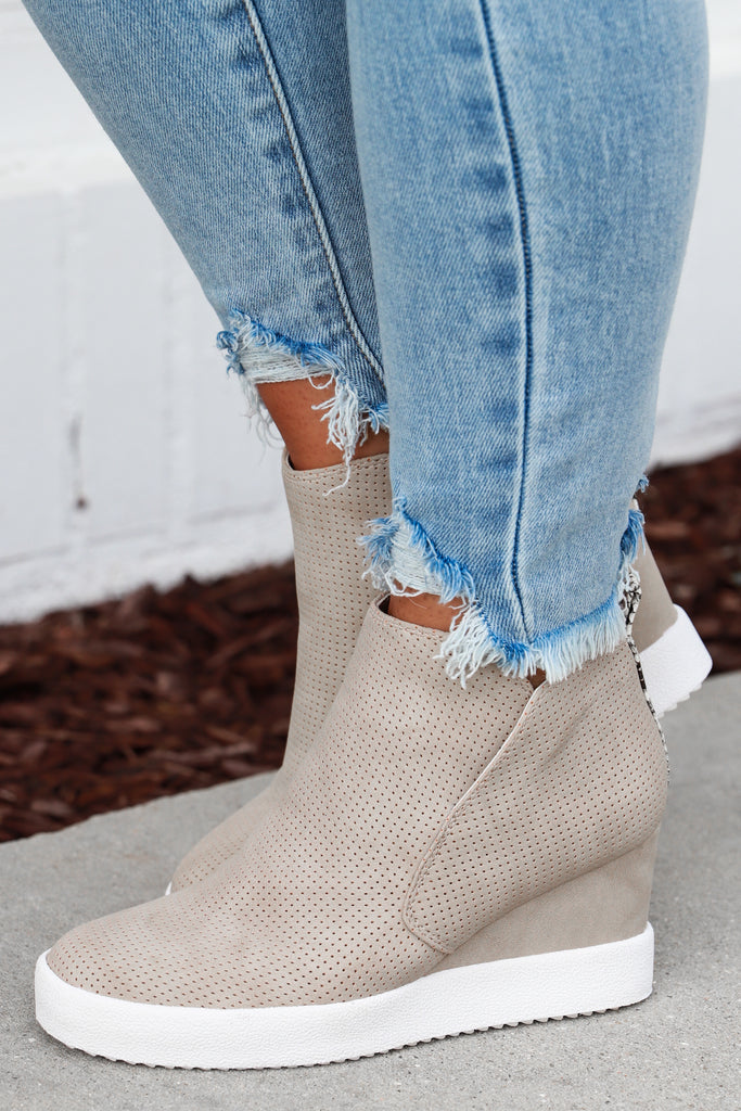 Above It All Sneaker Wedges