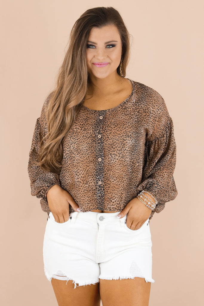 Take A Stand Leopard Blouse