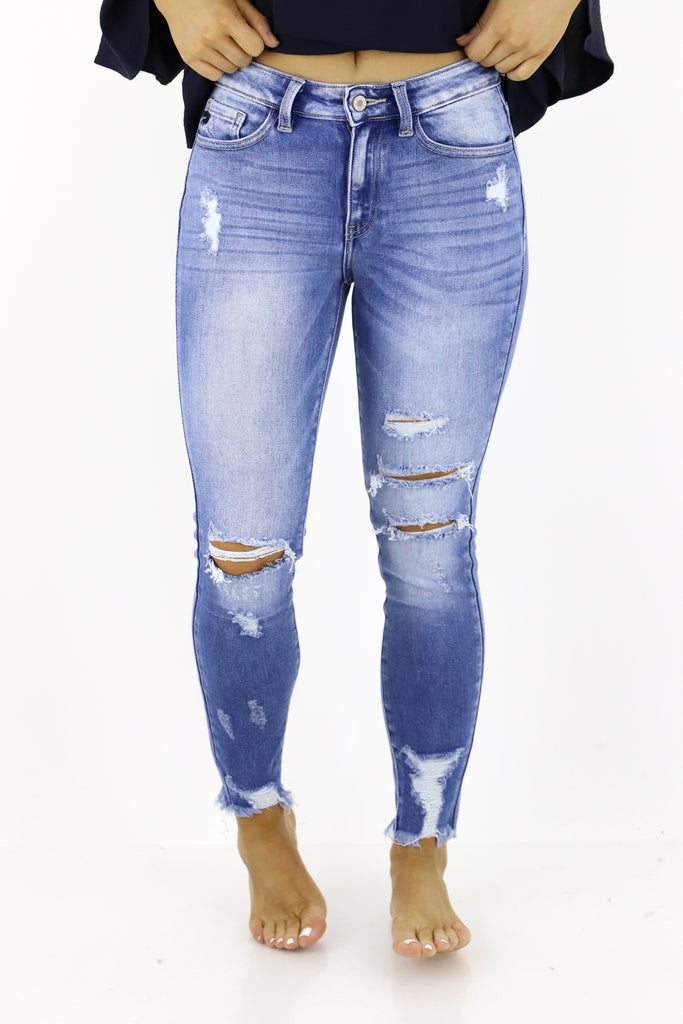 Top Of The Line Distressed Skinny