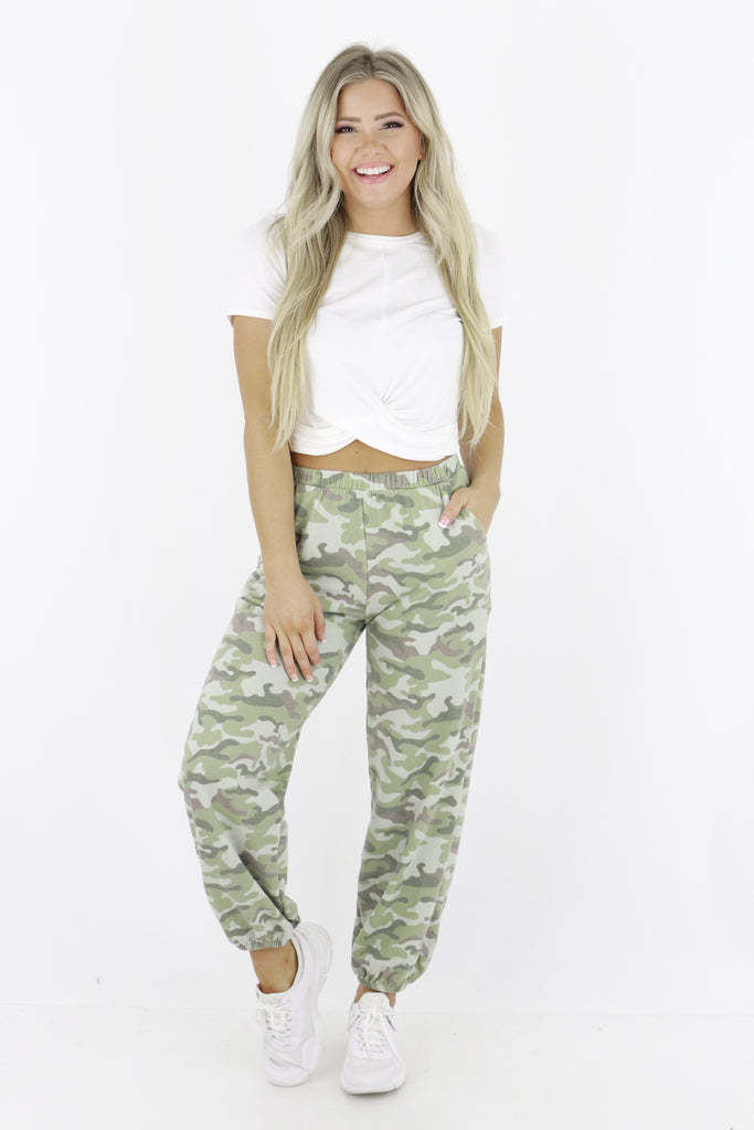 Out Of My Control Camouflage Sweatpants